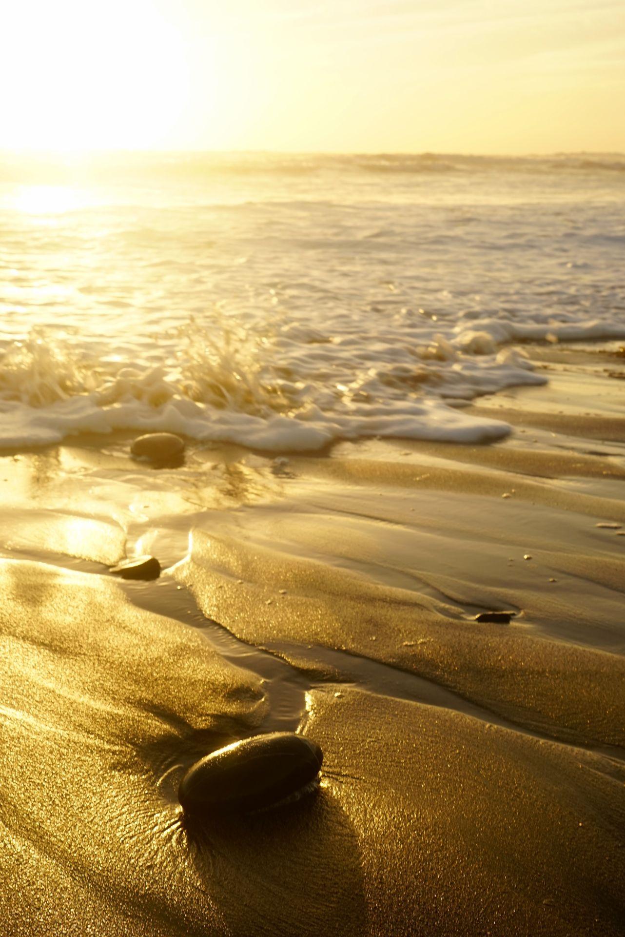 Widemouth Bay Cornwall at sunset