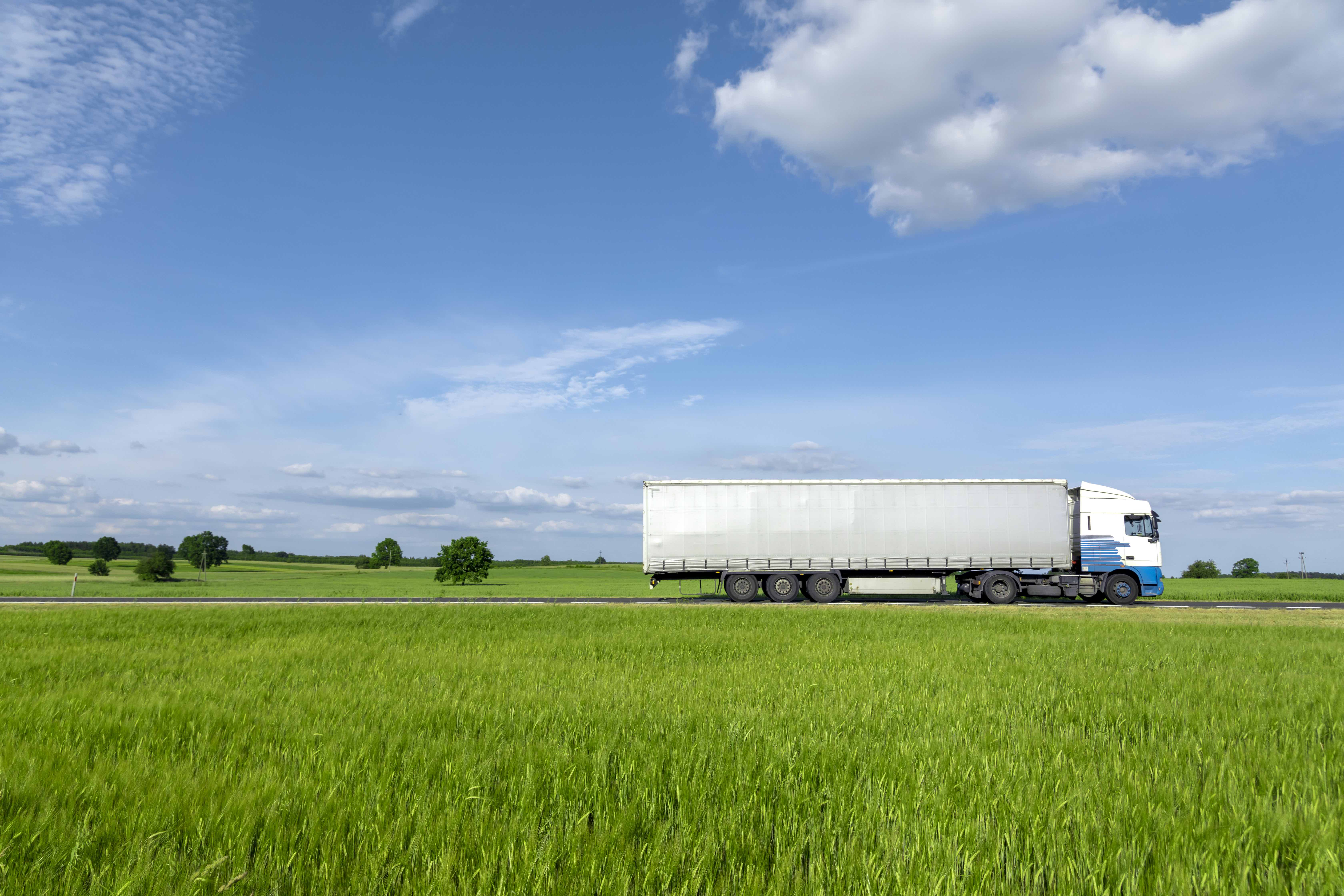 a truck delivering bread nationwide in the USA