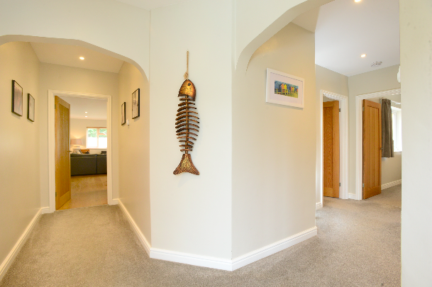 Spacious hallway at Gwelmor self catering holiday home in Widemouth Bay