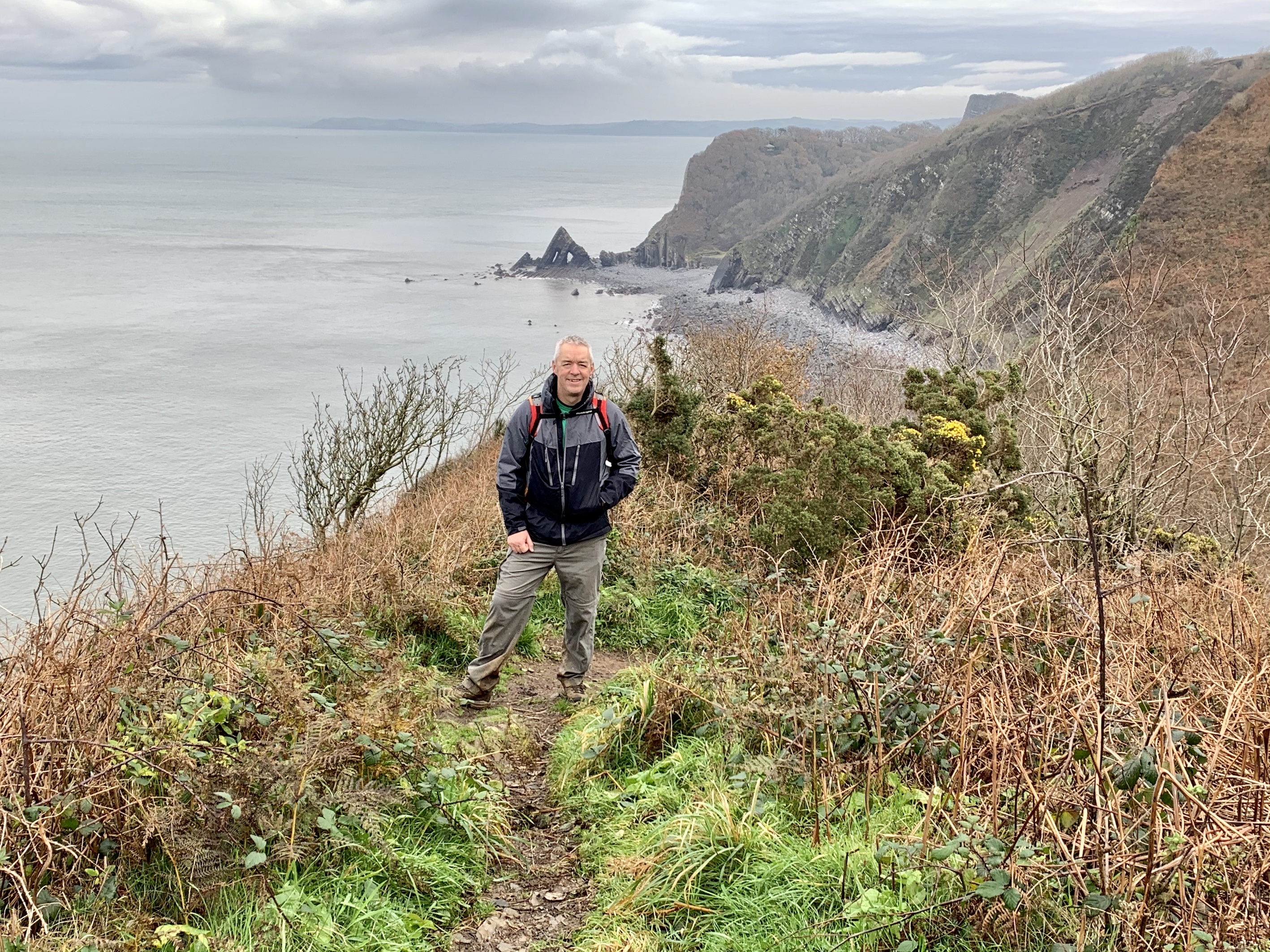 'Two eyed rock' on The South West Coast Path from Clovelly to Hartland Quay