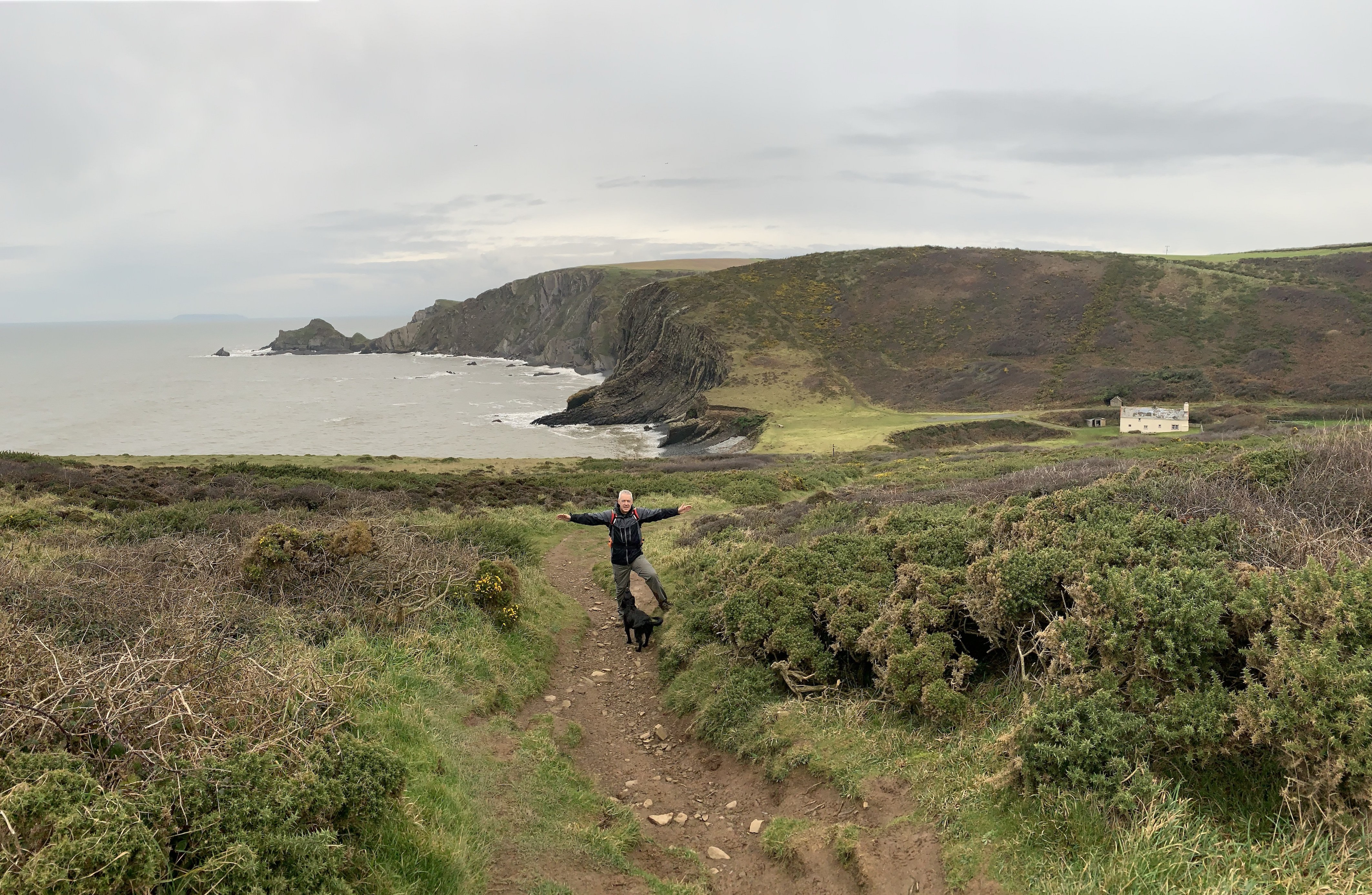 Stunning views along the The South West Coast Path from Clovelly to Hartland Quay
