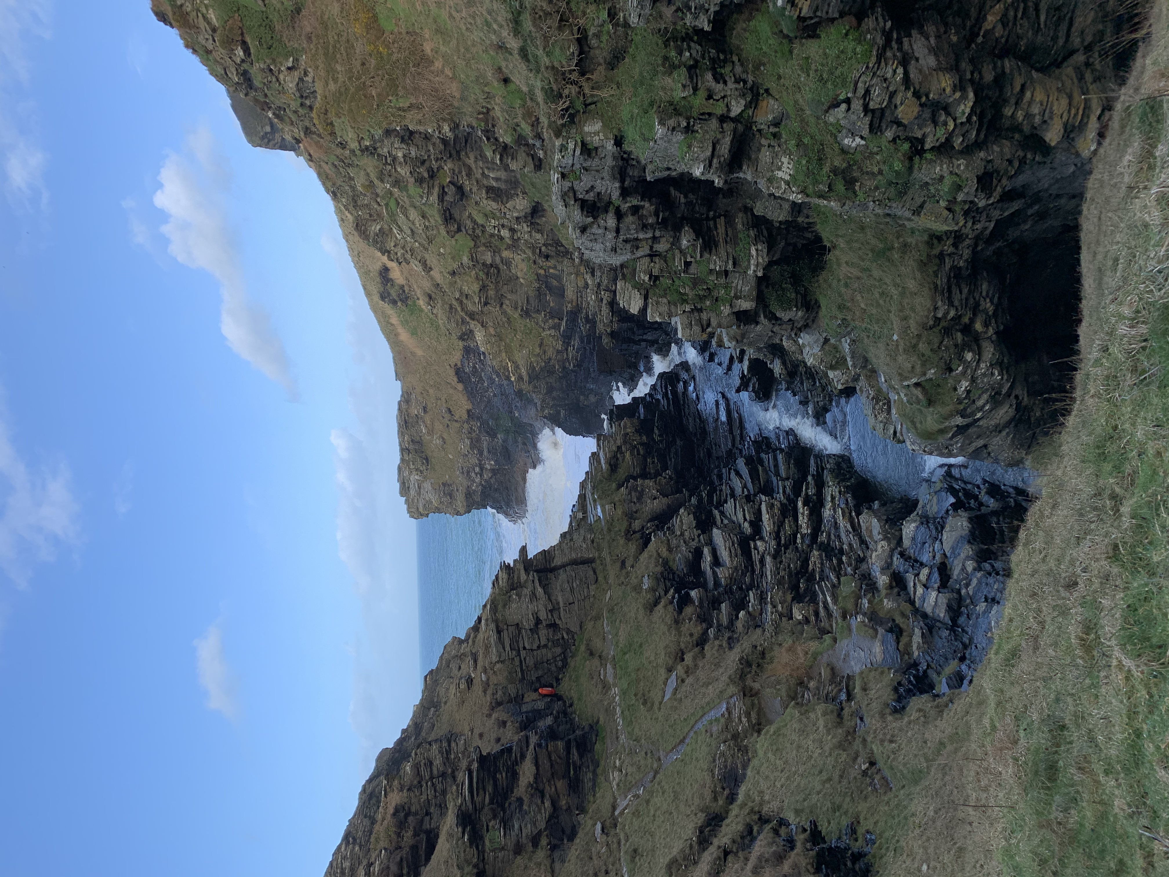 on The South West Coast Path walk from Boscastle to Tintagel