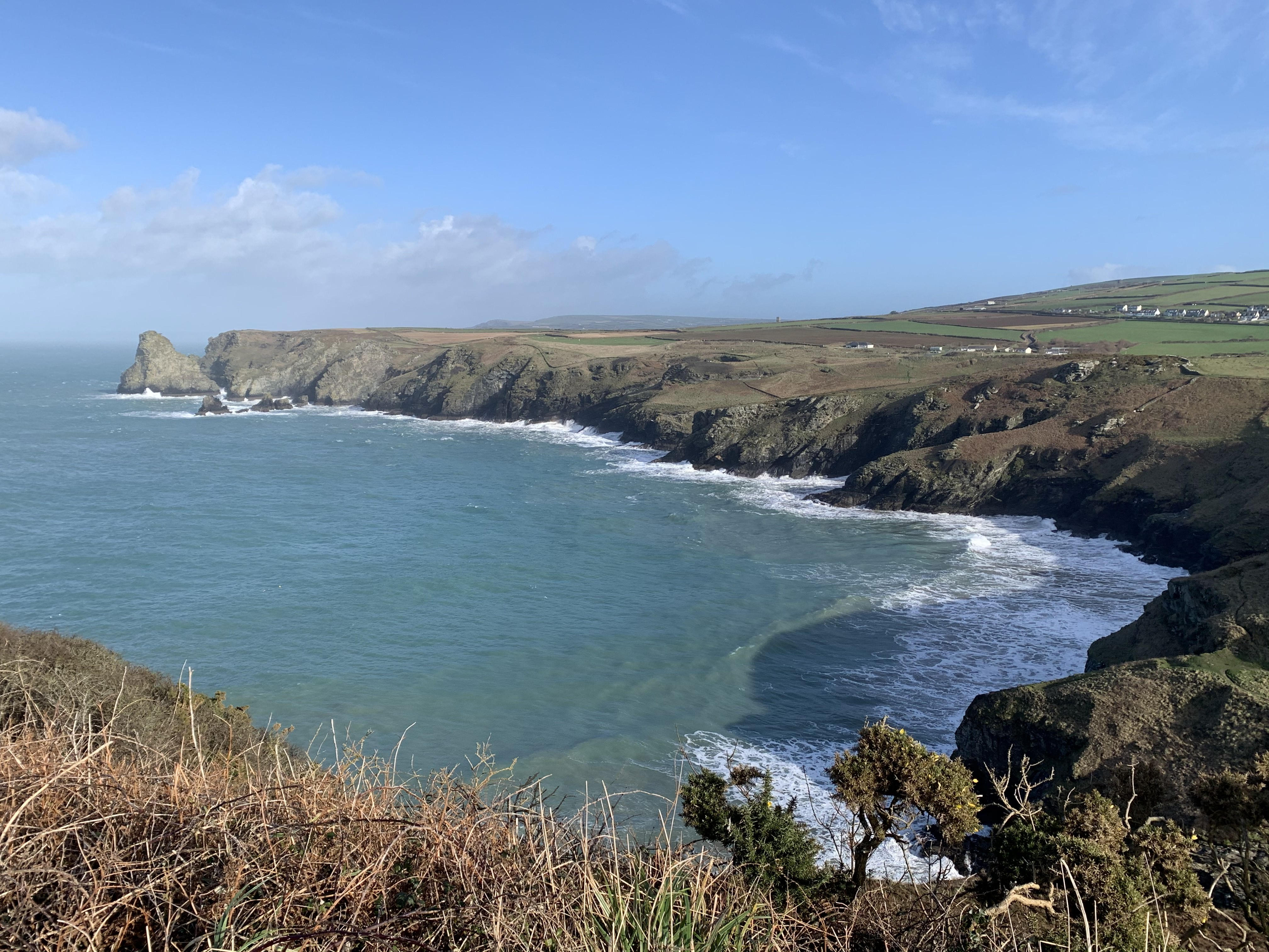 Stunning coastal scenery on The South West Coast Path walk from Boscastle to Tintagel
