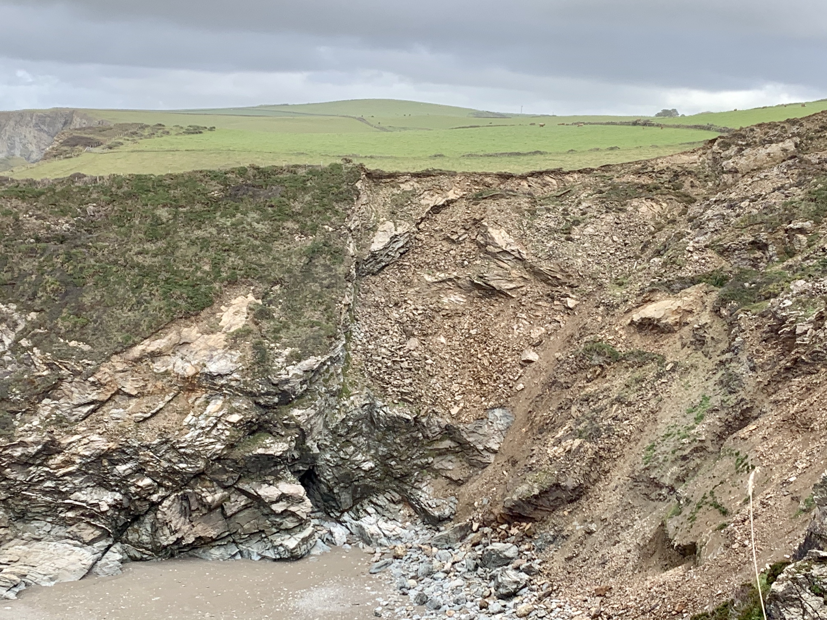 Dramatic cliff faces on the South West Coast Path Walk from Port Isaac to Rock