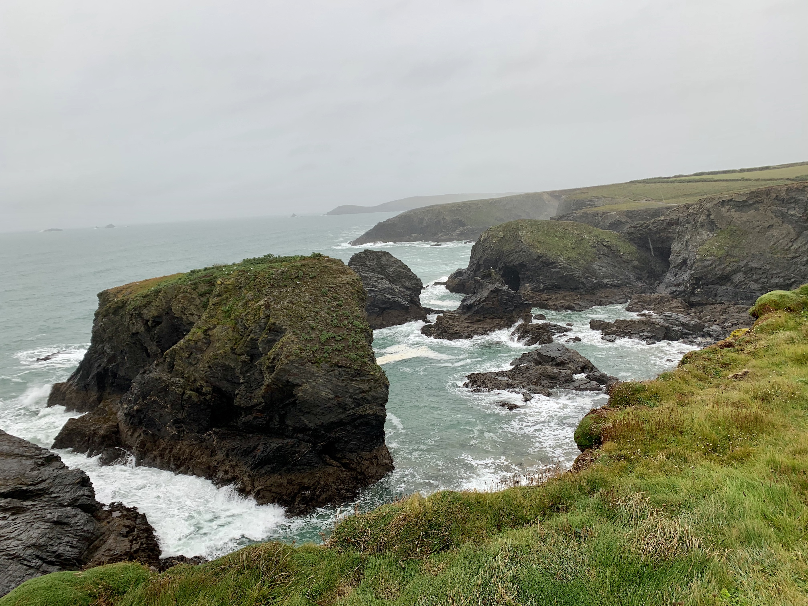 Superb views - even in grey weather along The South West Coast Path from Padstow to Porthcothan