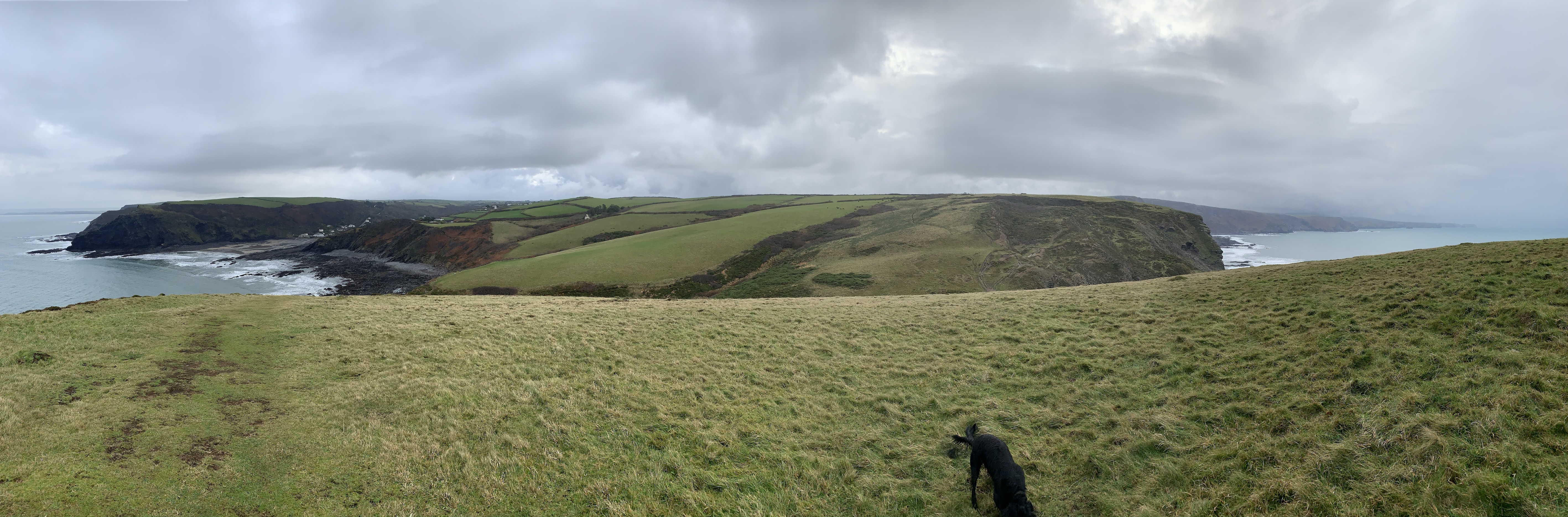 Panoramic views The South West Coast Path walk from Crackington Haven to Boscastle