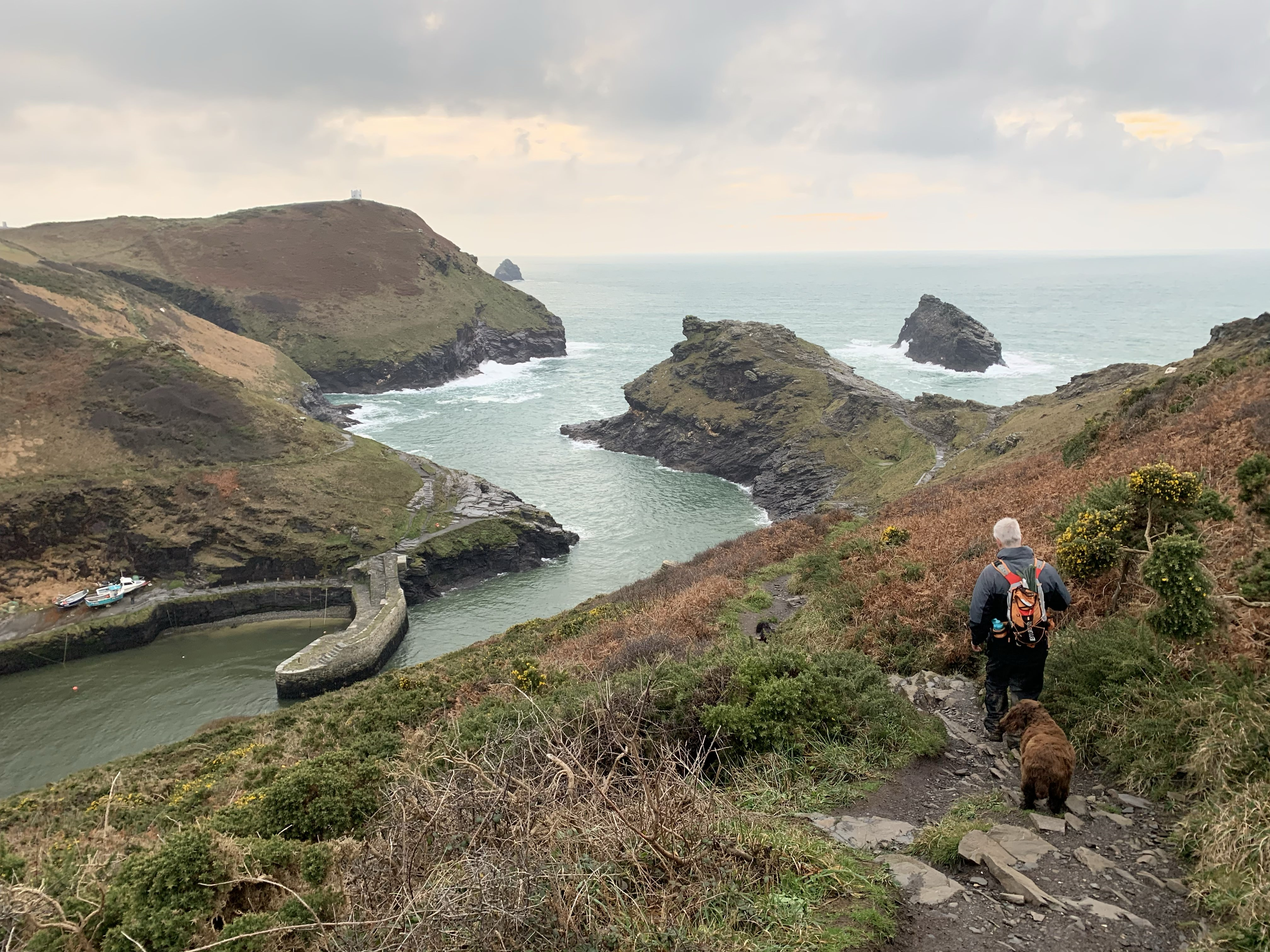 The entrance to Boscastle harbour The South West Coast Path walk from Crackington Haven to Boscastle
