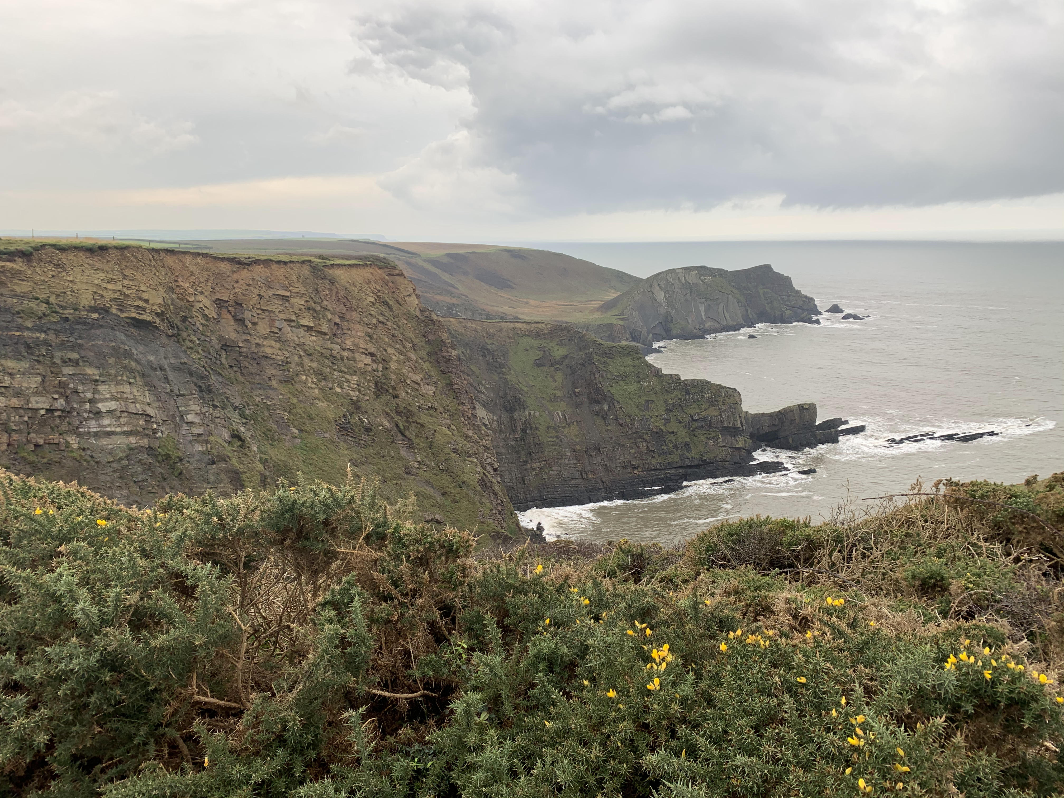 Dramatic views on The South West Coast Path from Clovelly to Hartland Quay