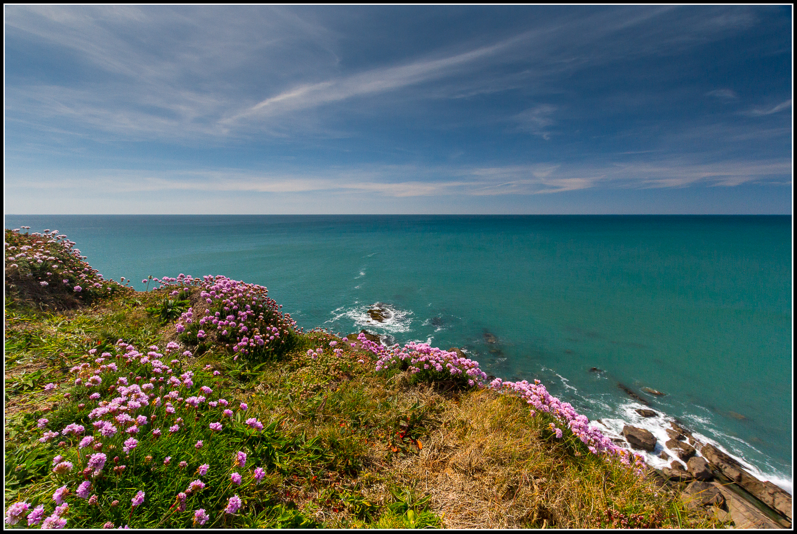 Stunning photograph of the Cornish coastline taken by a guest staying at Gwelmor self catering holiday cottage in Widemouth Bay north Cornwall