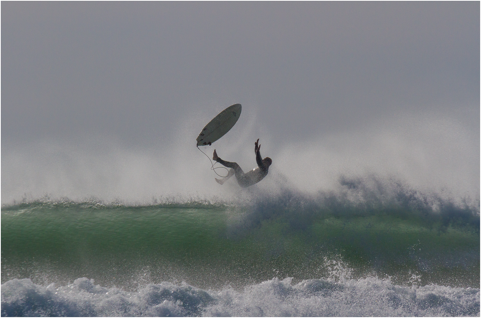 It's wipeout for a surfer in Widemouth Bay north Cornwall. Stunning photograph taken by a guest staying at Gwelmor self catering holiday cottage in north Cornwall