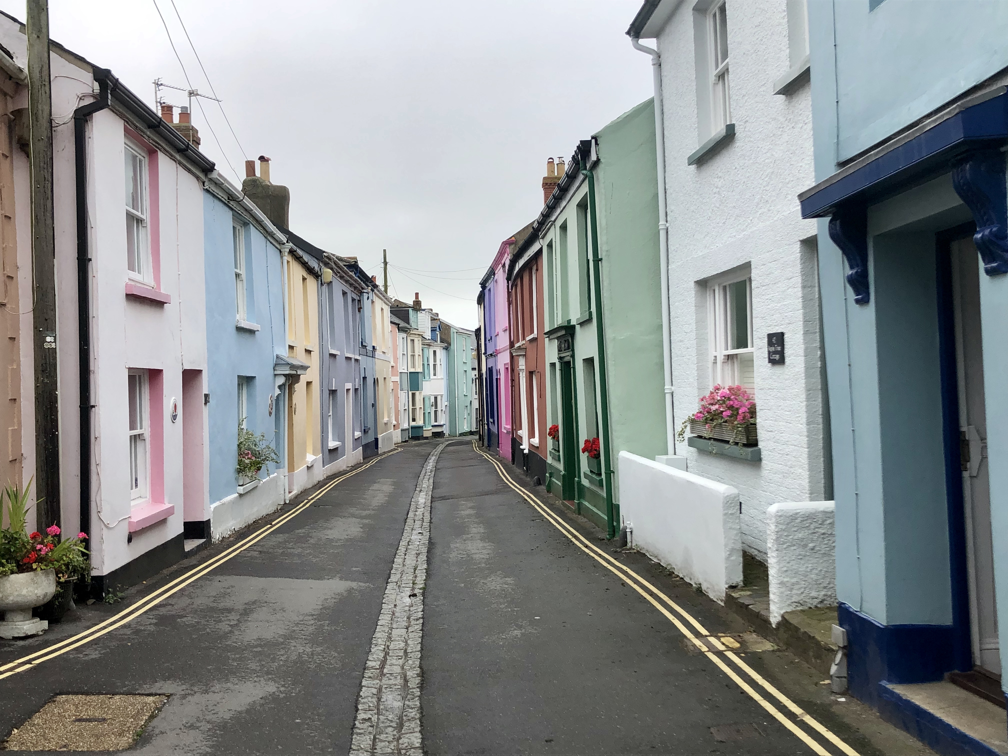The quaint and colourful cottages of Appledore in north Devon whilst walking the South West Coast Path