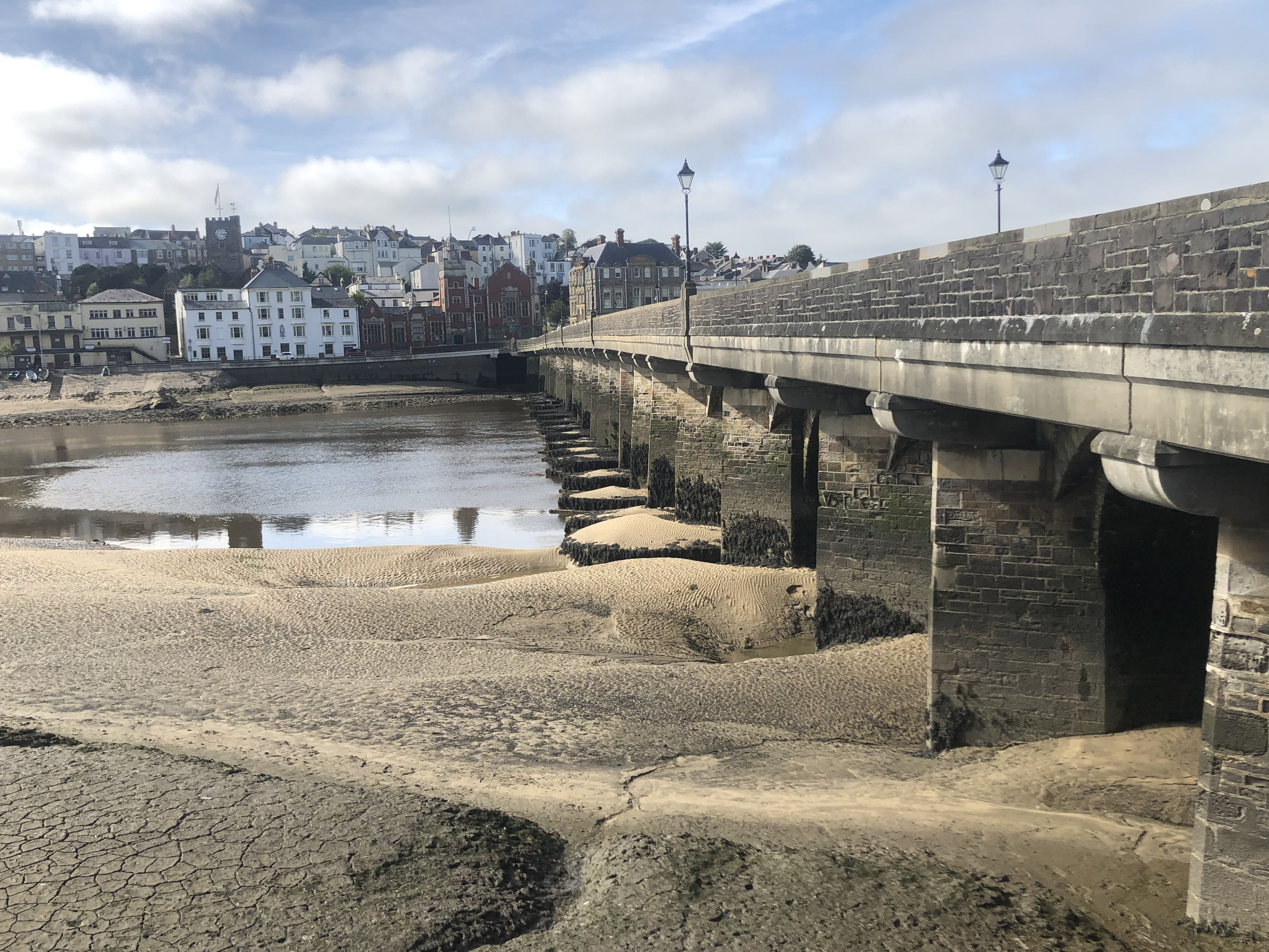 The bridge over the River Torridge at Bideford whilst walking the South West Coast Path