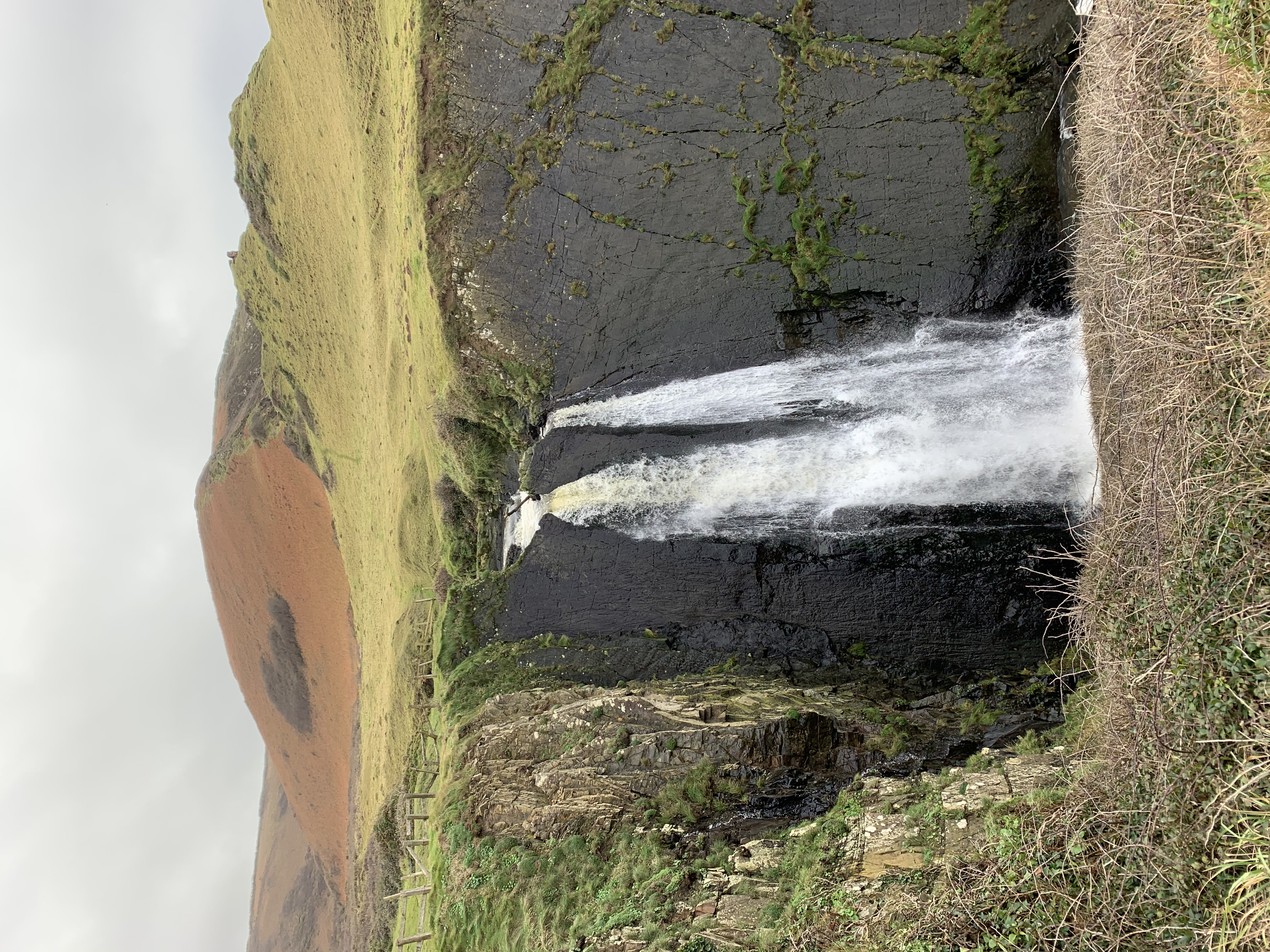 Waterfall at Speke's Mill Mouth on The South West Coast Path from Hartland Quay to Morwenstow