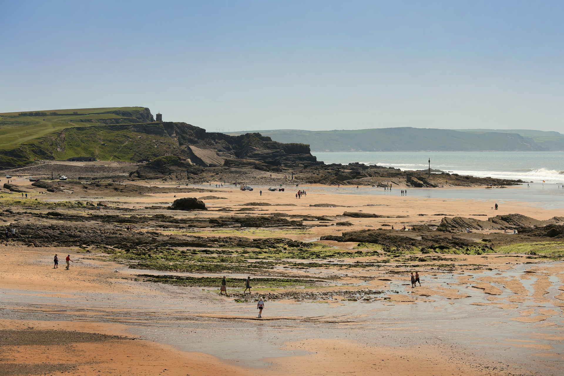 Crooklets Beach, one of several Blue Flag beaches in and around Bude in north Cornwall