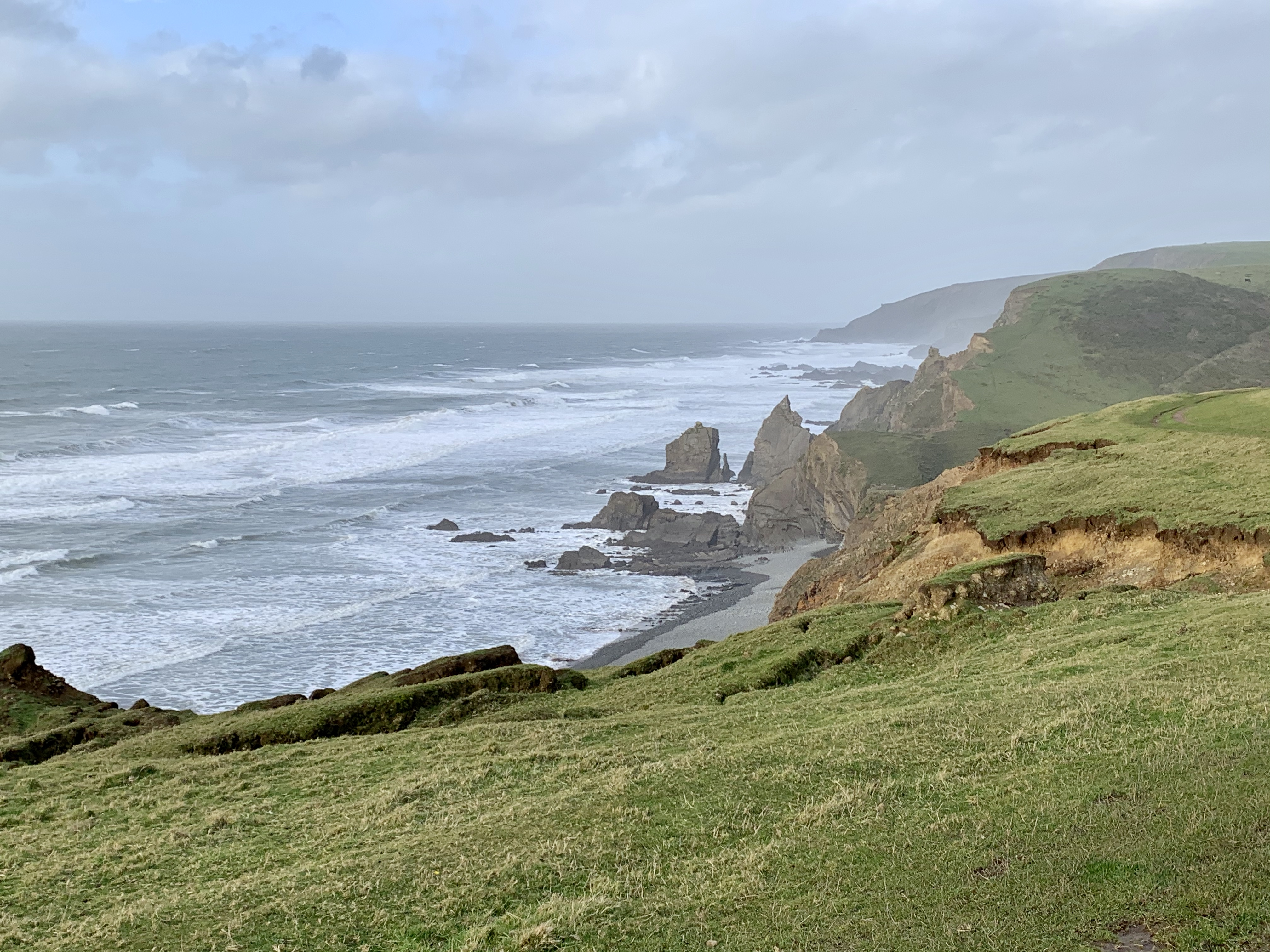 Stunning scenery right on our doorstep in the UK such as the South West Coast Path clifftop views when we choose a staycation over flying abroad