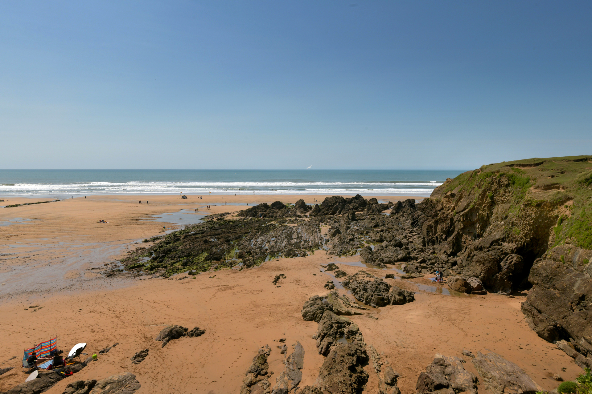 Crooklet's beach in Bude, north Cornwall