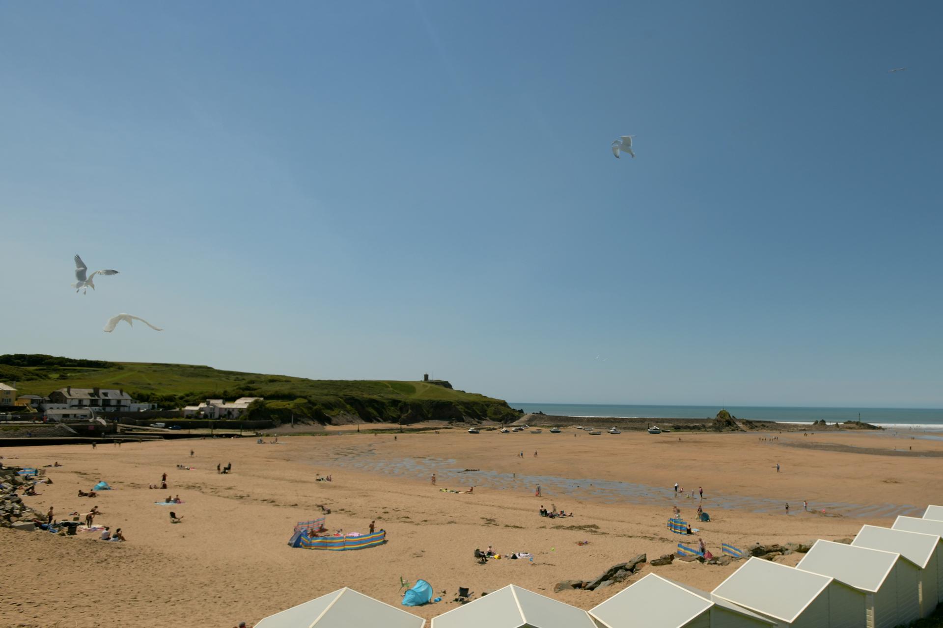 Summerleaze beach in Bude north Cornwall