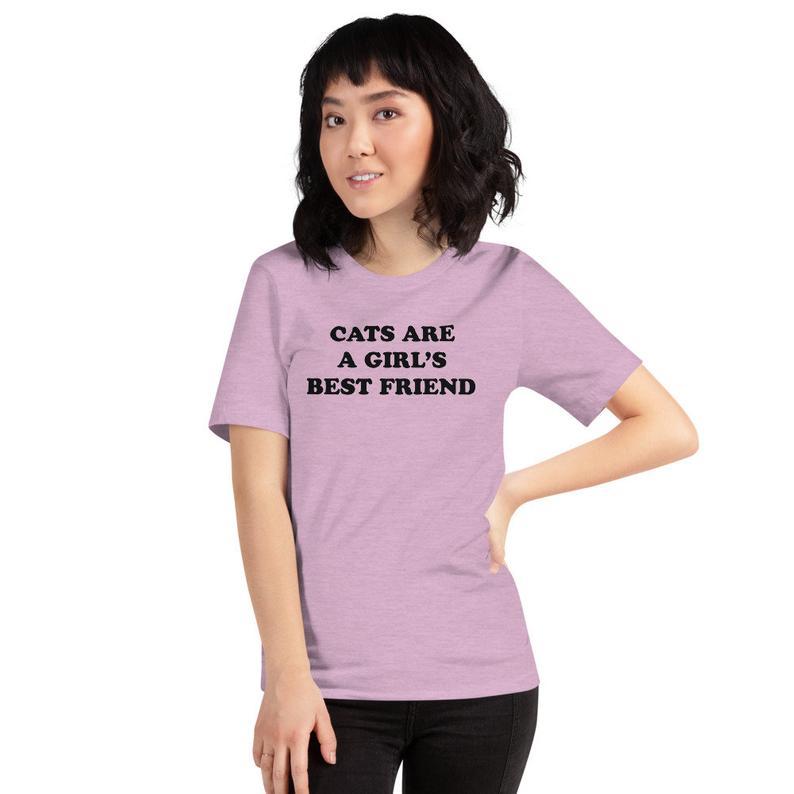 Cats Are A Girls Best Friend T-Shirt Pizza Cat