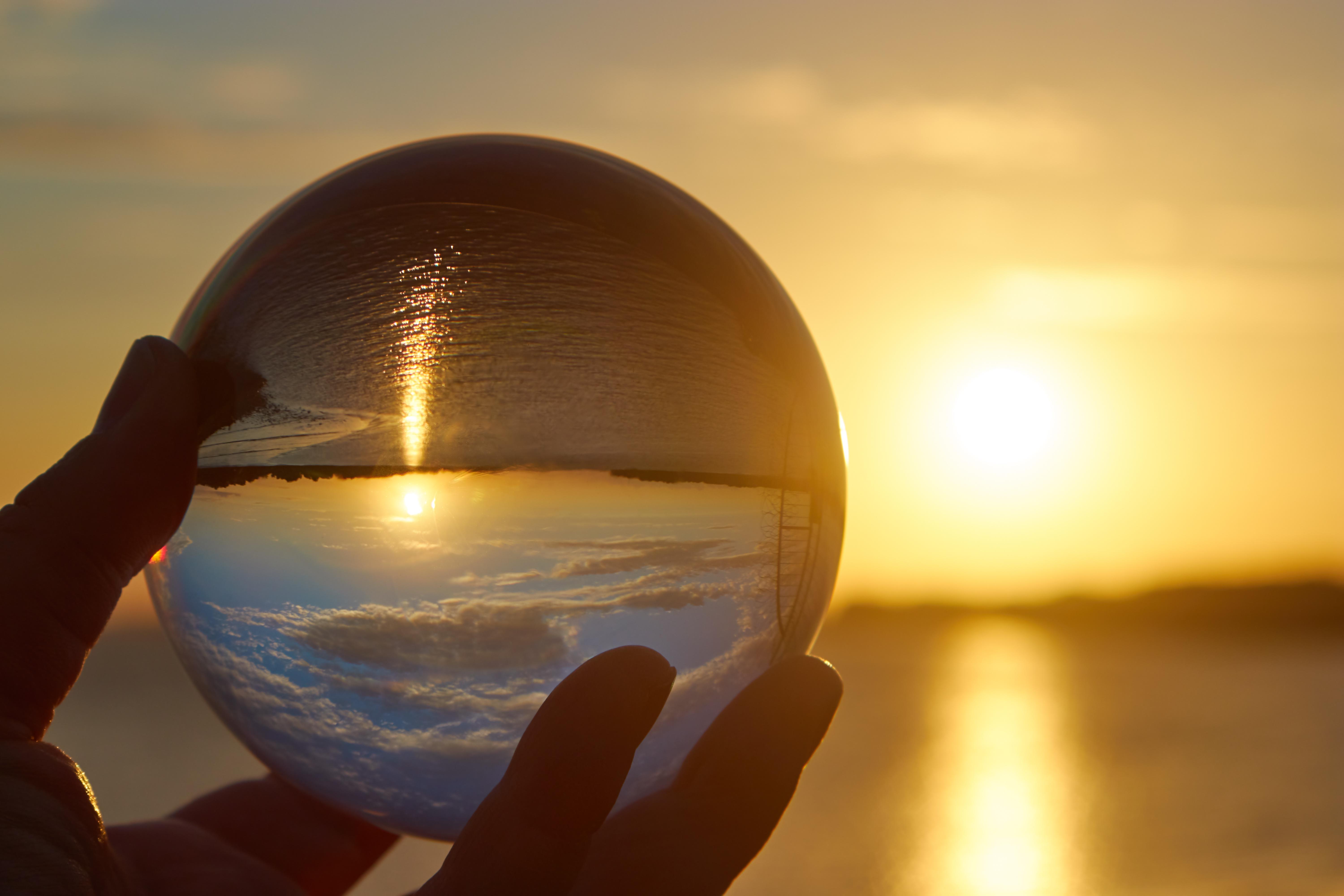 crystal ball sea side evenings