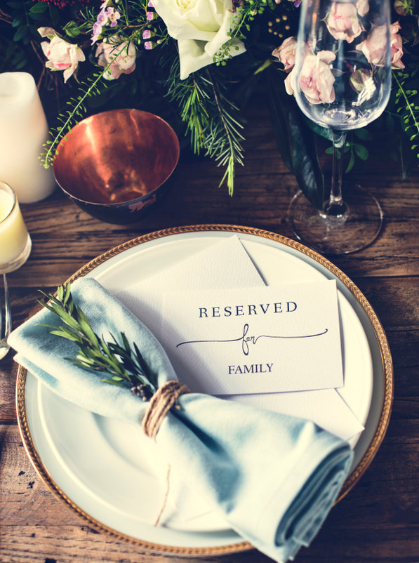 Reserved for family place setting