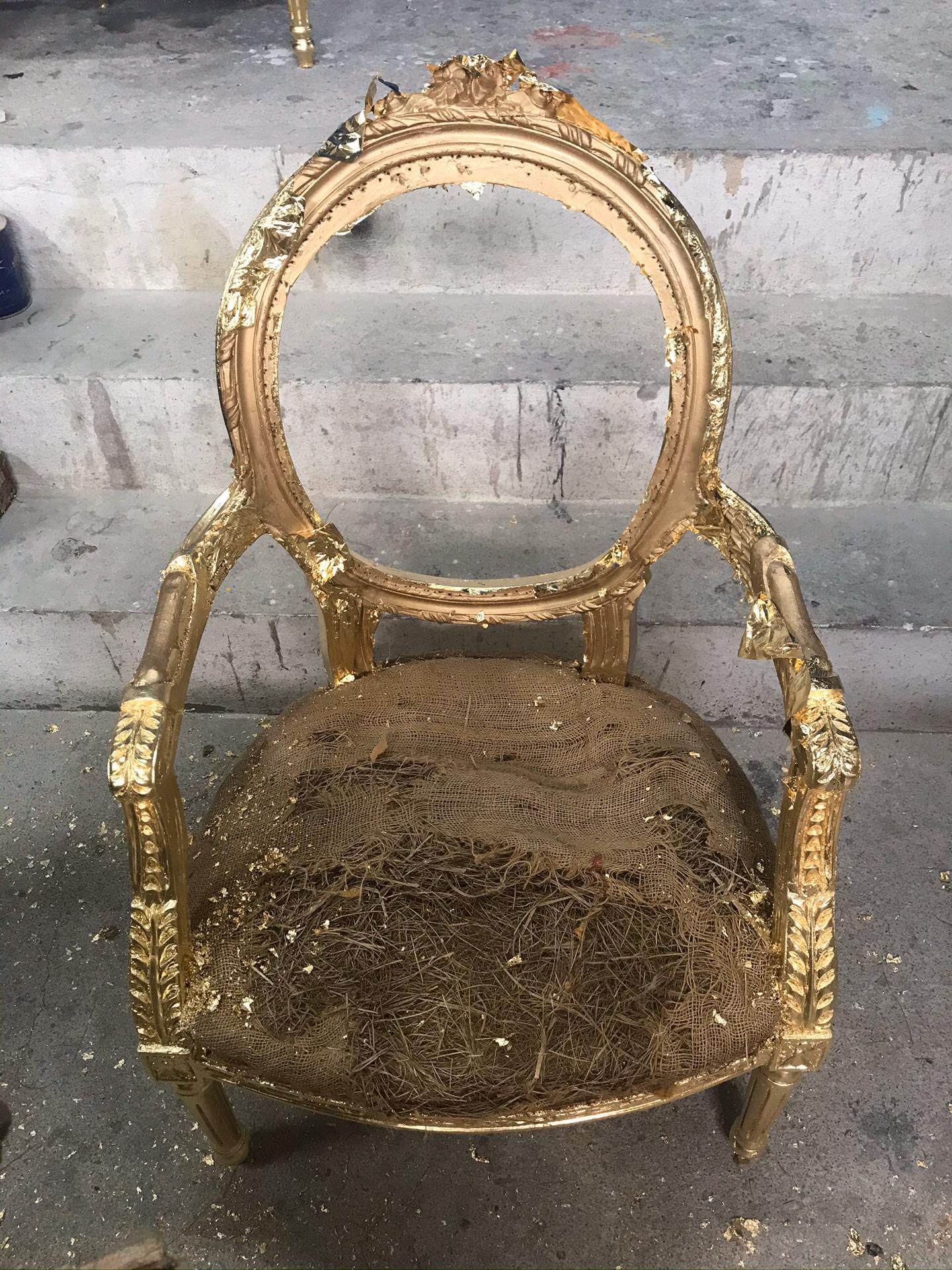 cadeira talha dourada