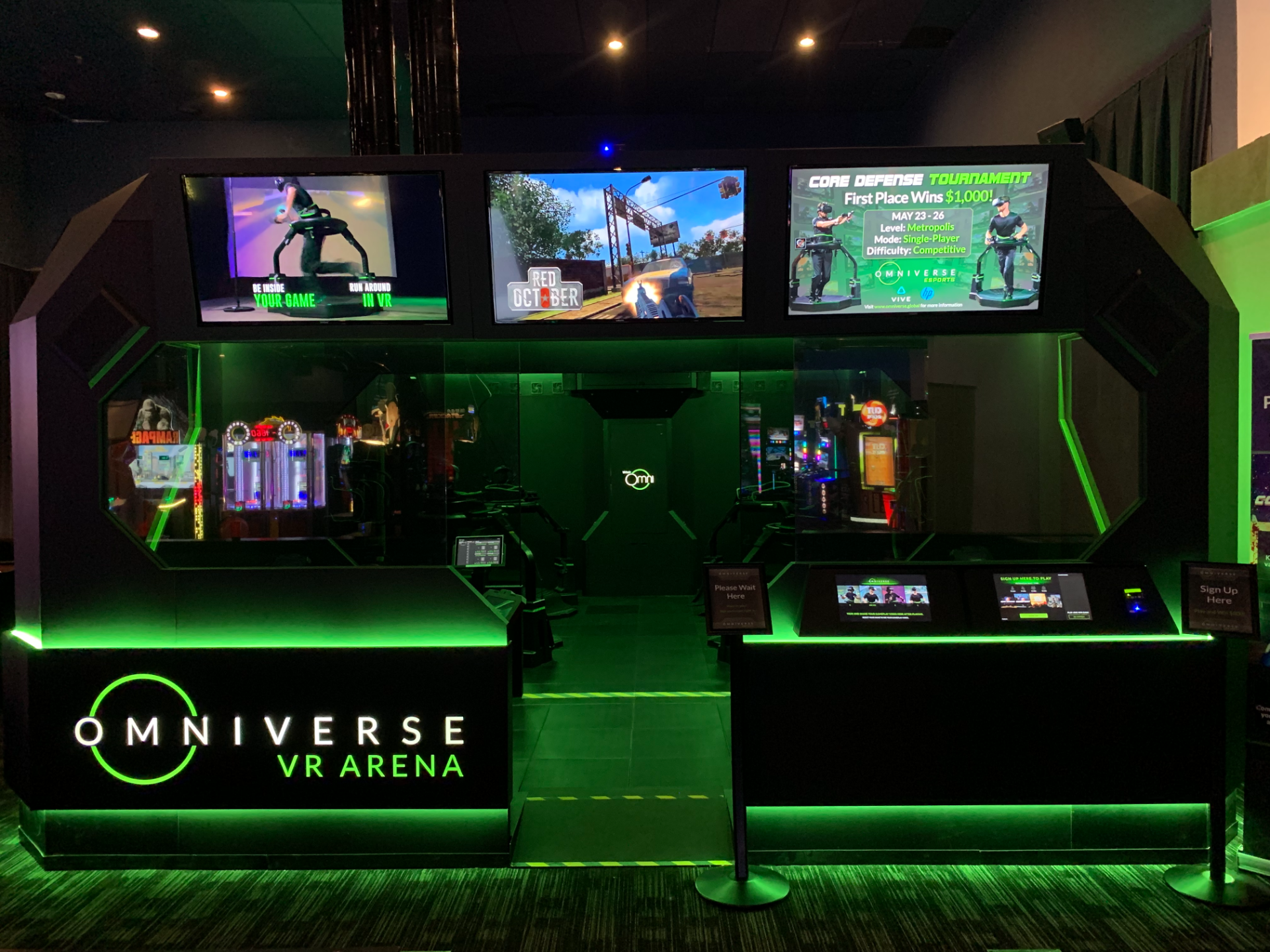 Virtuix Brings VR Esports to Dave and Buster's with Omniverse VR Arena