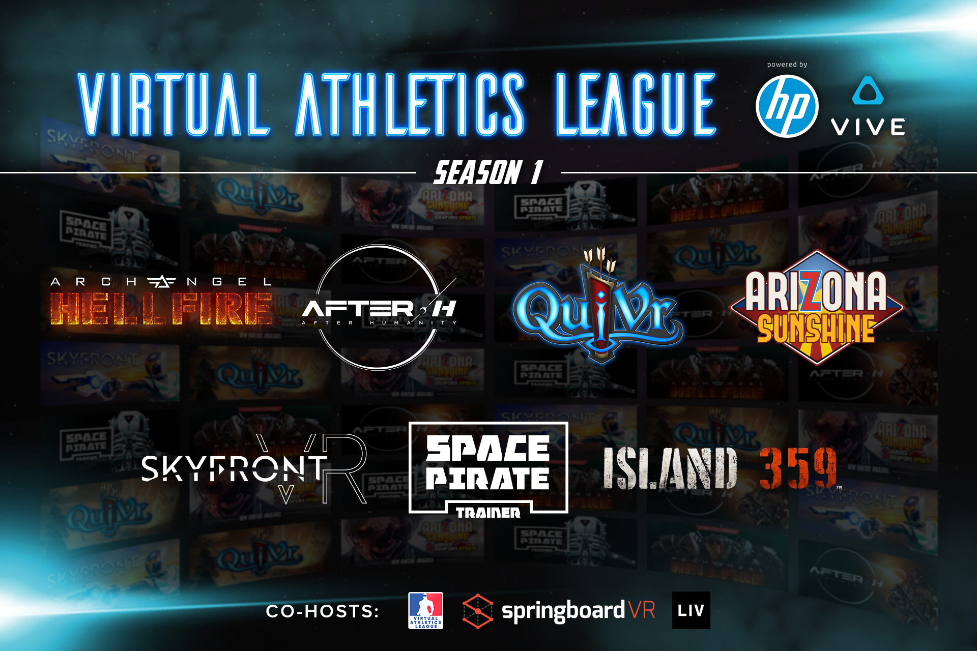 Virtual Athletics League Launches Global VR Esports League for Arcades with Sponsorship from HTC and HP, Inc.