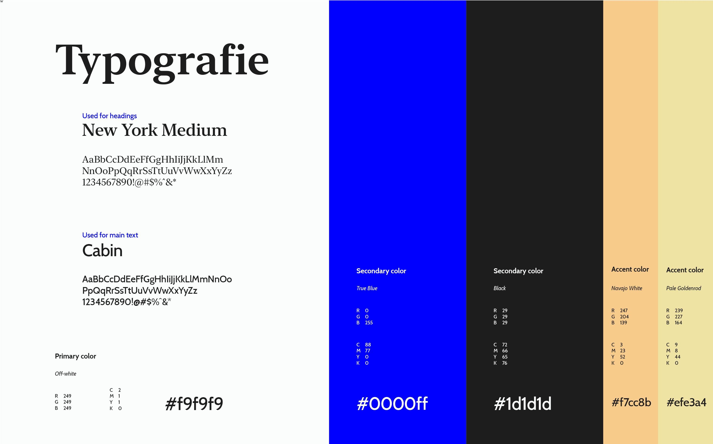 your music network typografie en kleur