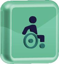 ícone representativo de cadeirante