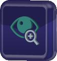 ícone representativo de deficientes visuais