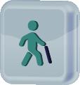 ícone representativo de homem com bengala