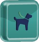 ícone representativo de cão guia