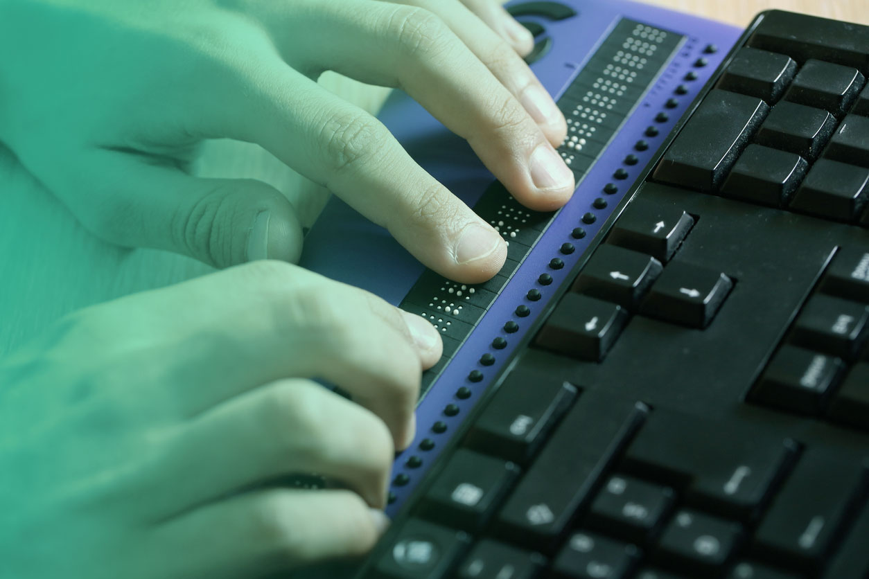 Imagem de um teclado de braile