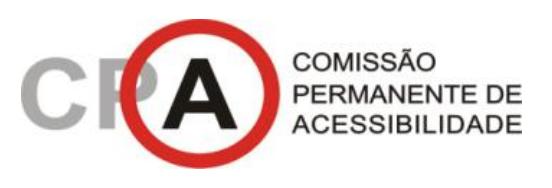 Marca da Comissão Permanente de Acessibilidade