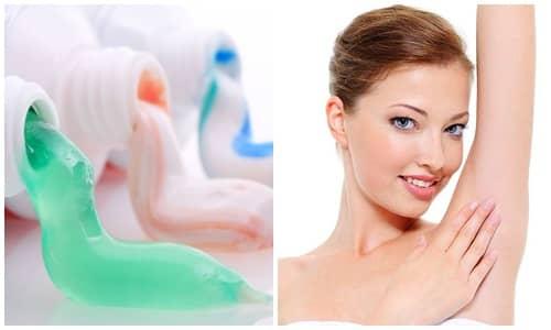 cách trị hôi nách với kem đánh răng
