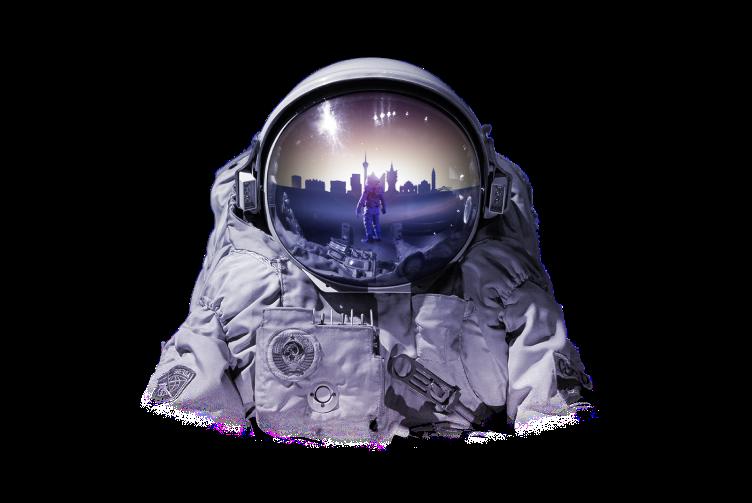 Moti's astronaut image