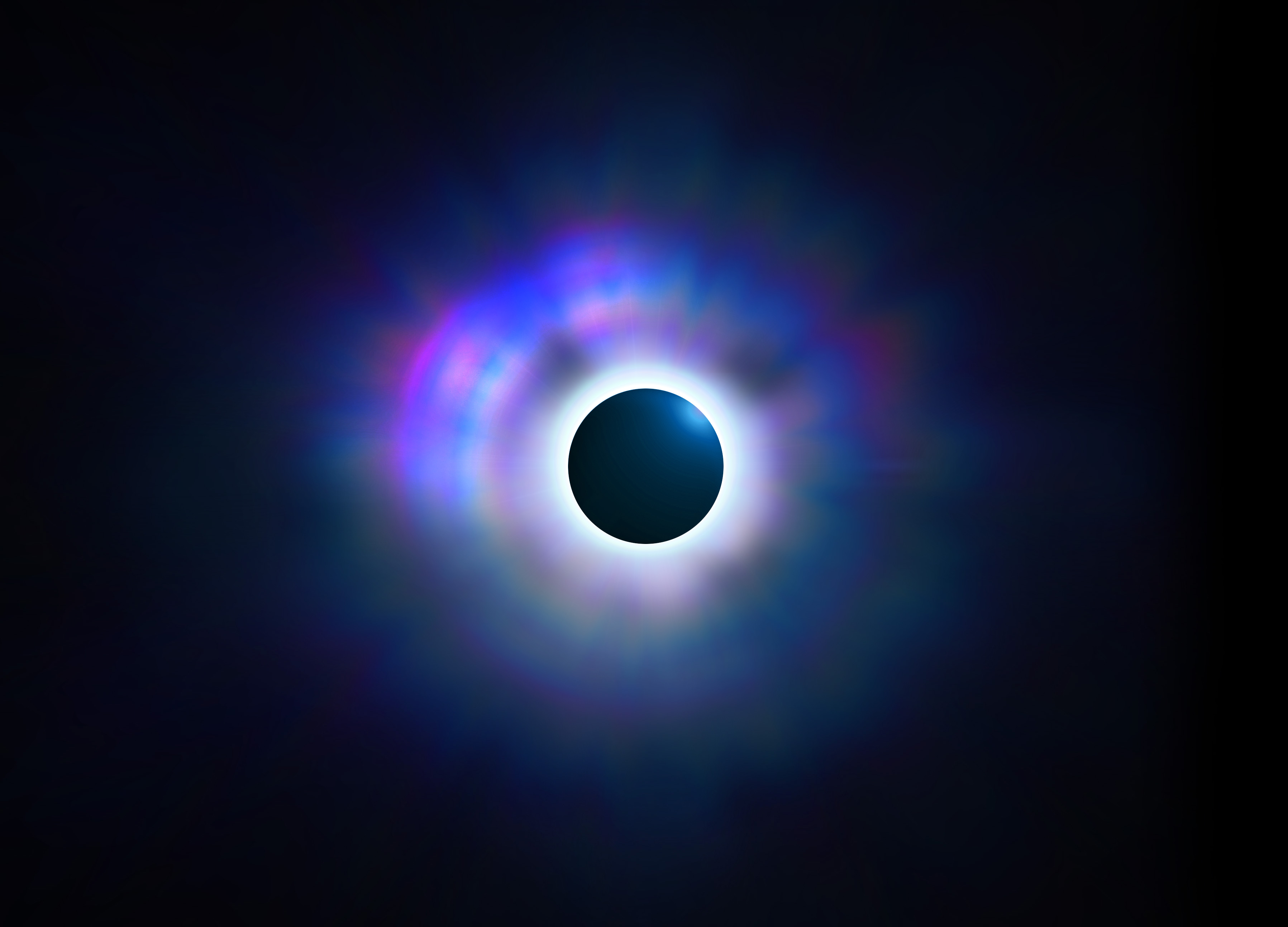 Solar eclipse background for Hero section