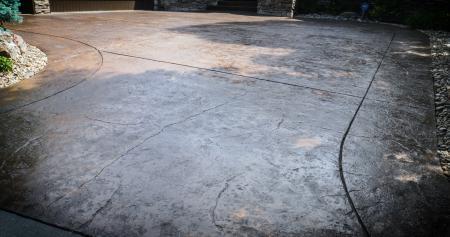 Stamped Driveway Restoration After