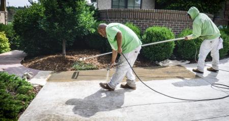 Mid Stamped Concrete Restoration