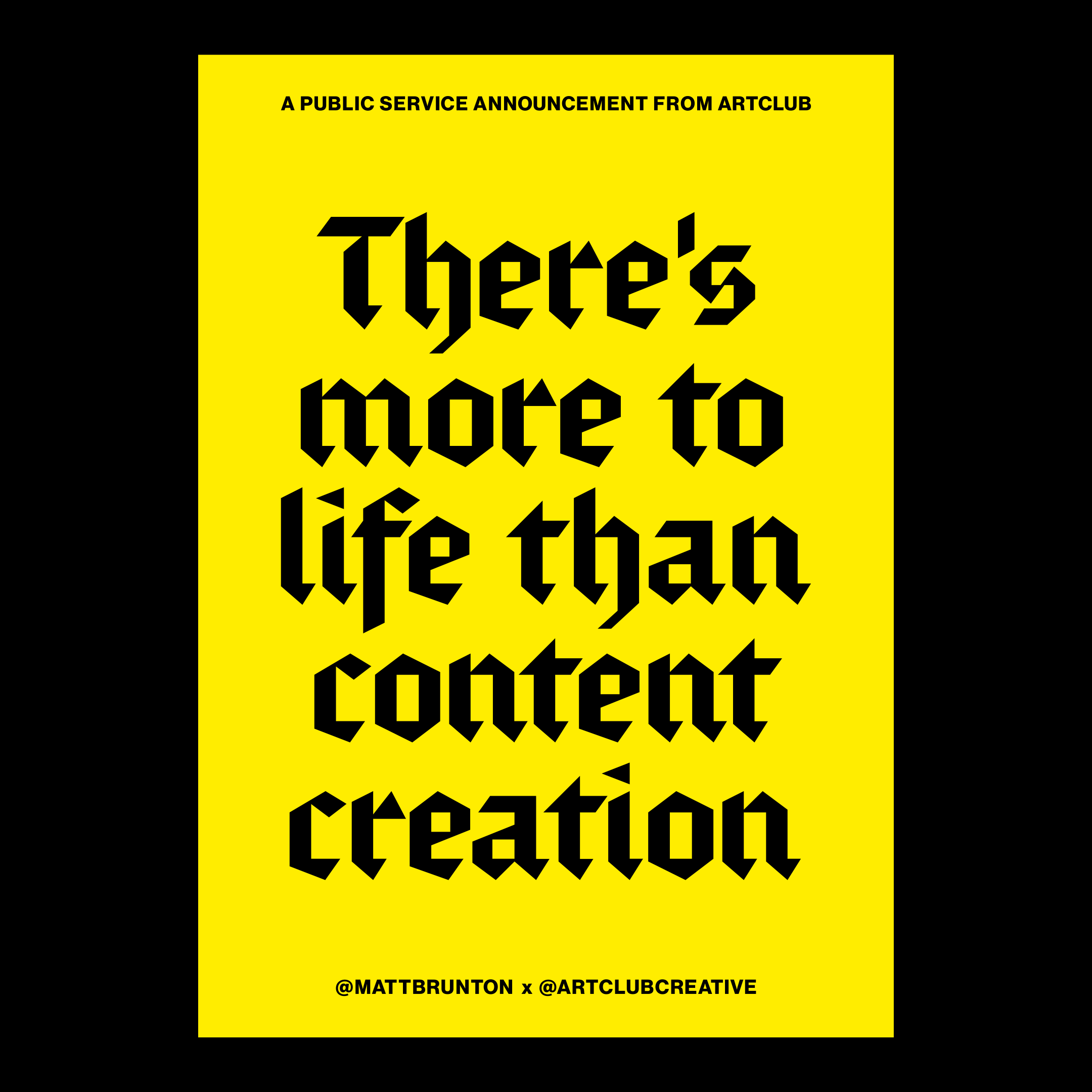 There's more to life than content creation