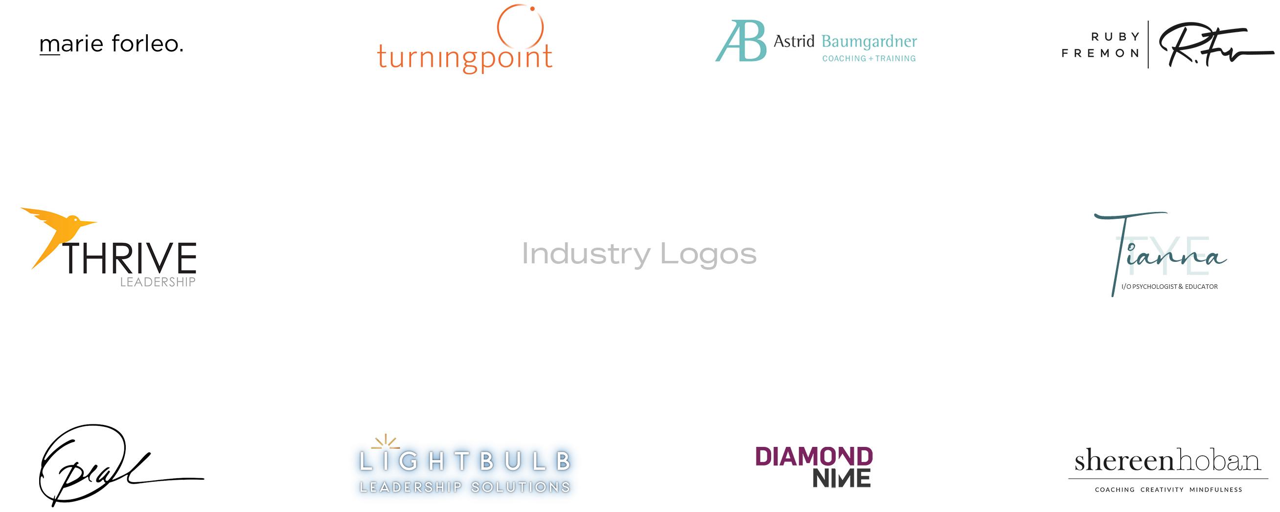 Leadership coaching industry logos