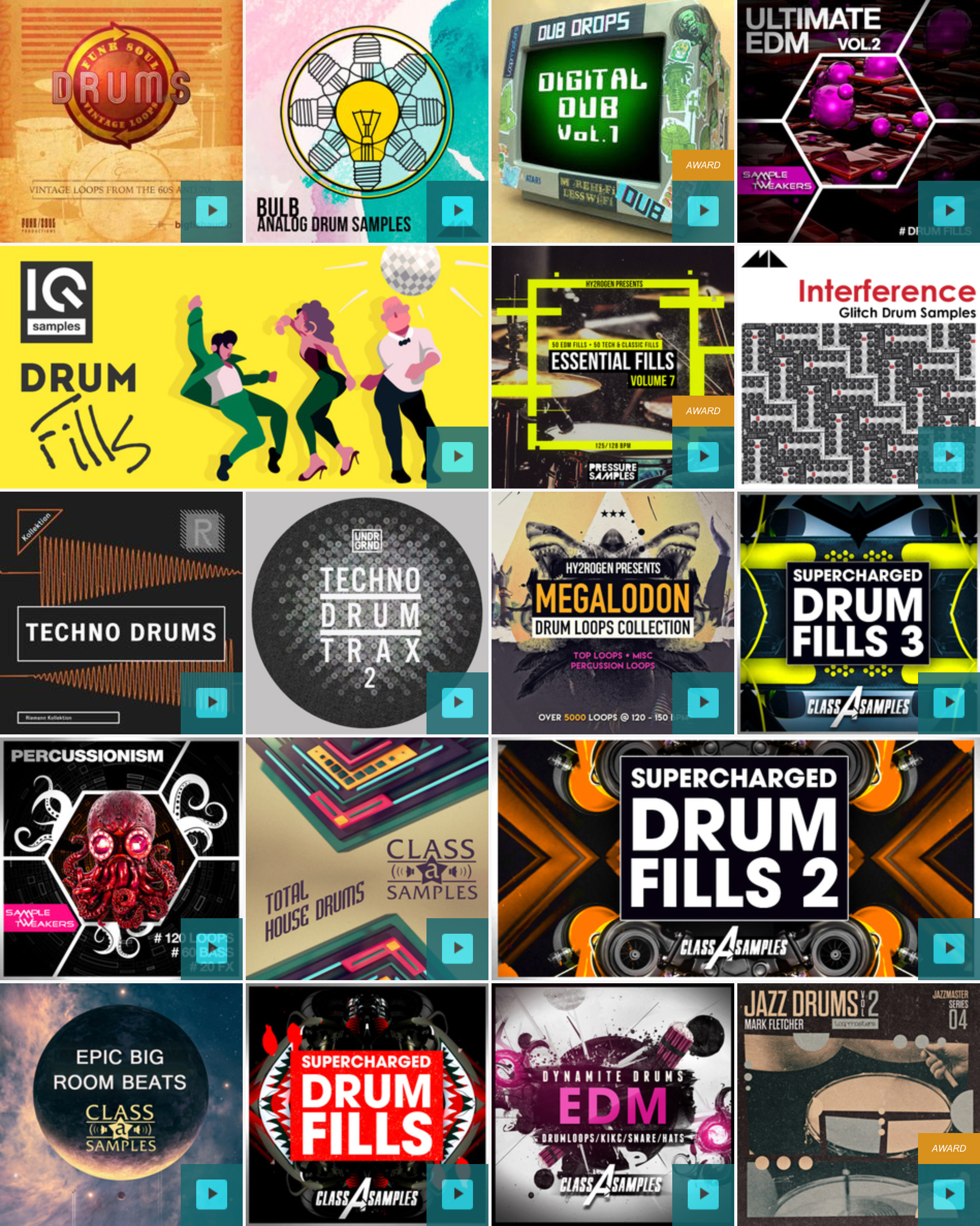 Drum sample library competitor marketplace (Loopmasters)