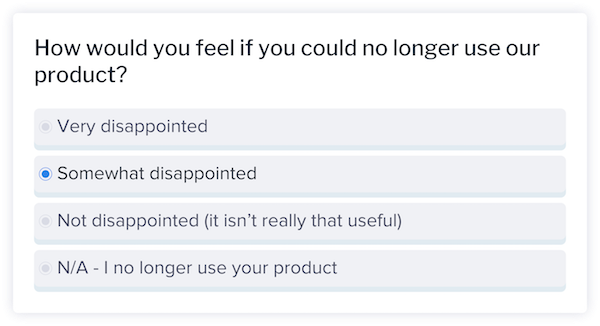 How would you feel if you could no longer use our product?
