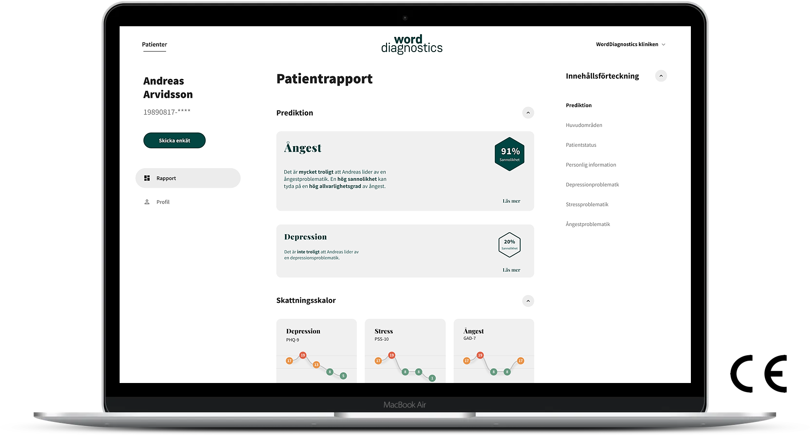 WordDiagnostics Patient Report