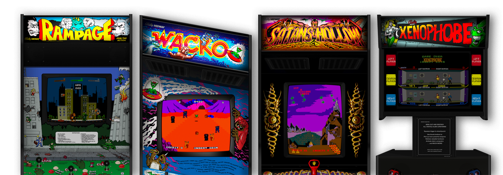 Attack Pack arcade cabinets
