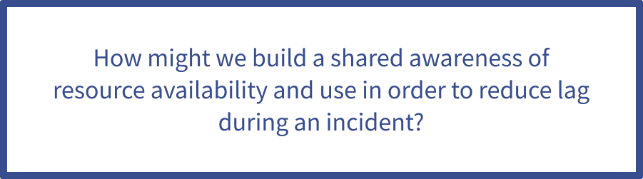build a shared awareness of resource availability and use