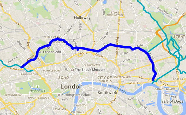 Regents Canal Map