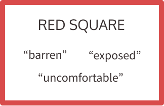 "red square- ""exposed, barren"""