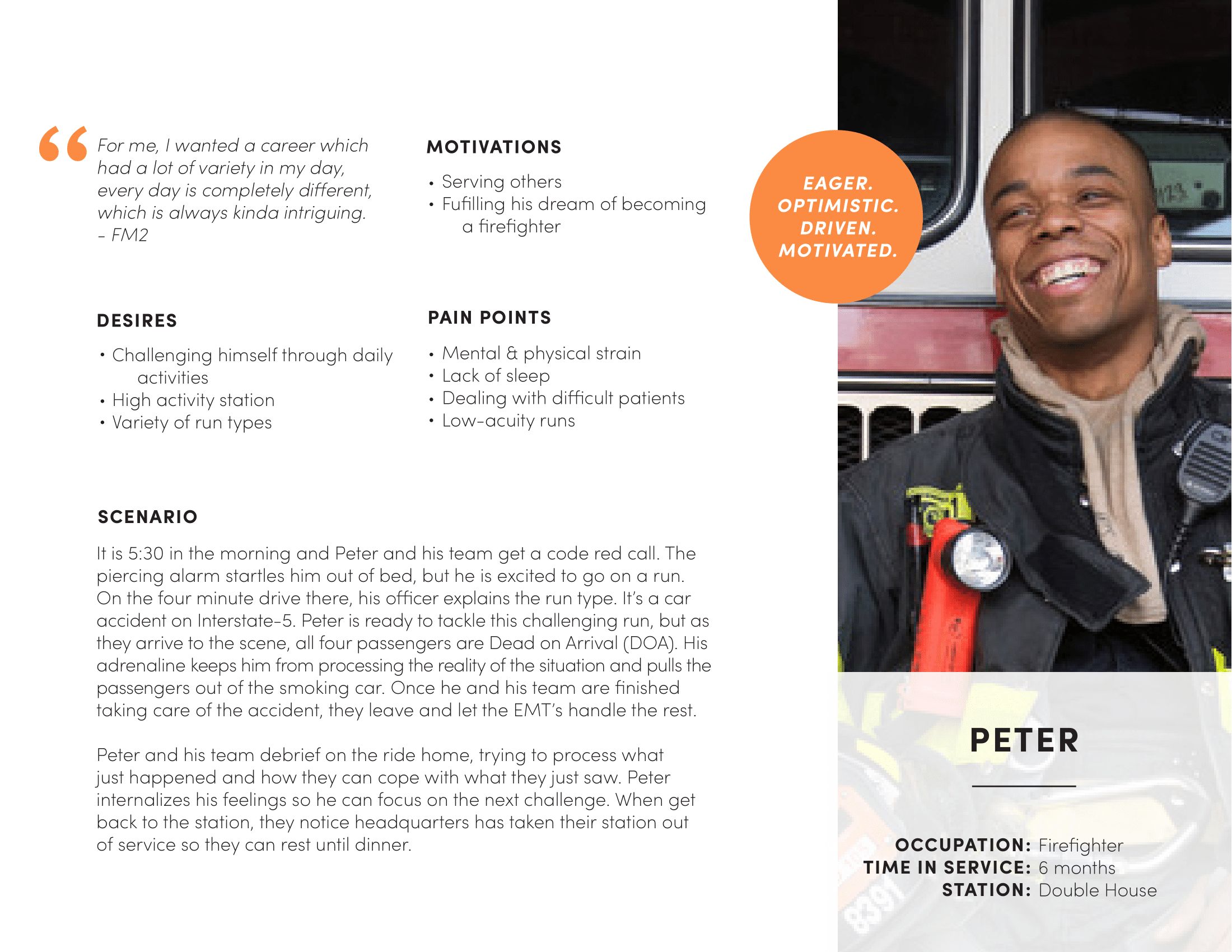 persona for peter