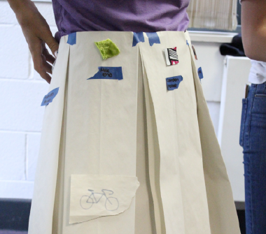 rough prototyped skirt
